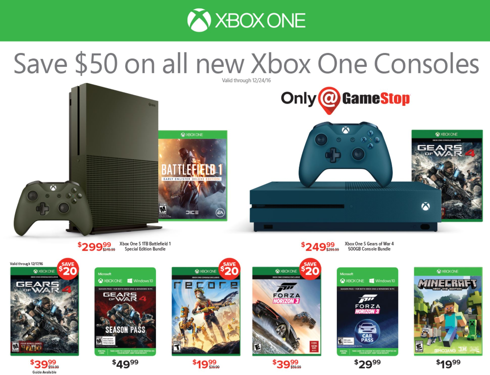 Best Xbox One Deals 199 Xbox One Free Games