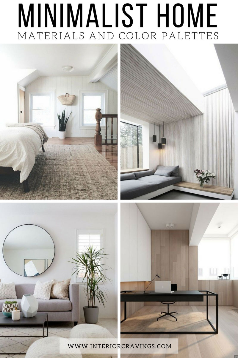 Minimalist Home Essentials Materials And Color Palette
