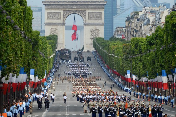 Trump Attend Bastille Day Celebrations In France