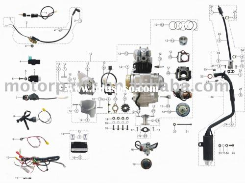 small resolution of mini panther 110cc atv wiring diagram mini panther 110cc
