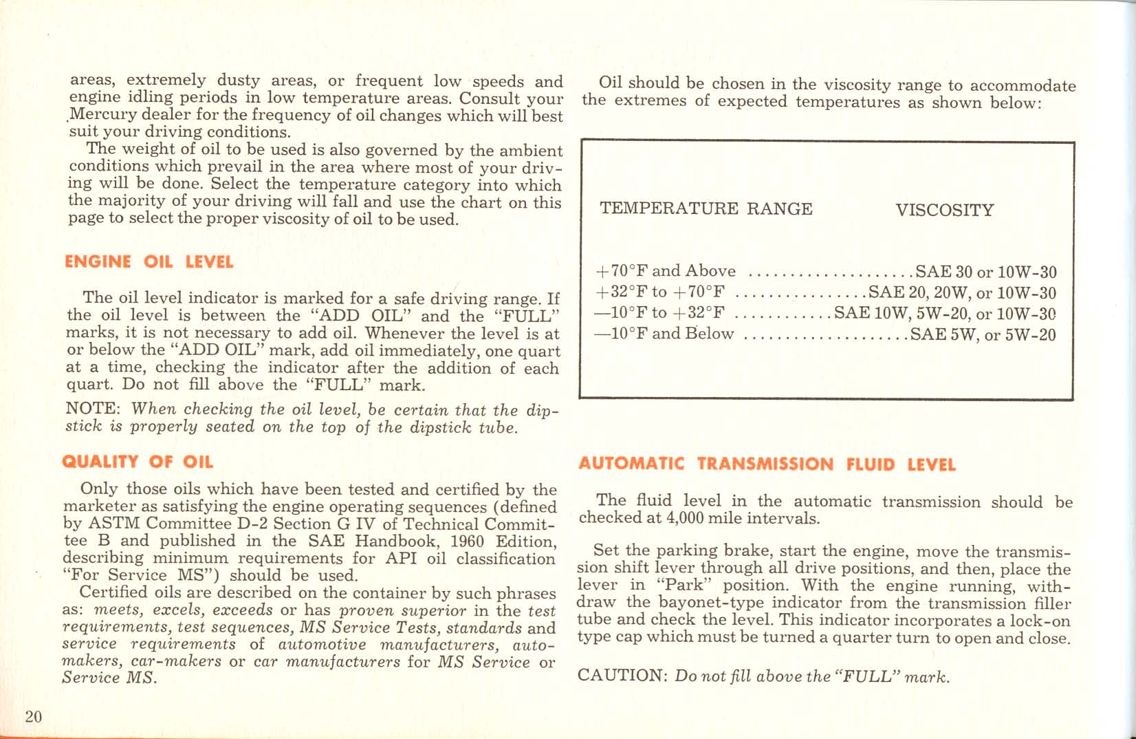 hight resolution of 1961 mercury owners manual pg 21