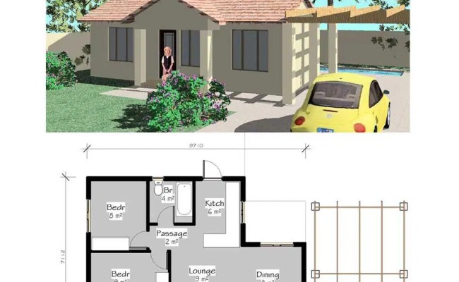 Free House Plans Downloads 2 Bedroom House Plan