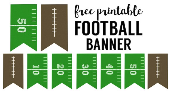 Football Banner Free Printable Football Party Paper
