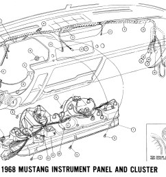 1968 mustang dash cluster wiring diagram electrical diagrams 1989 mustang wiring diagram 1968 mustang instrument panel [ 1800 x 943 Pixel ]