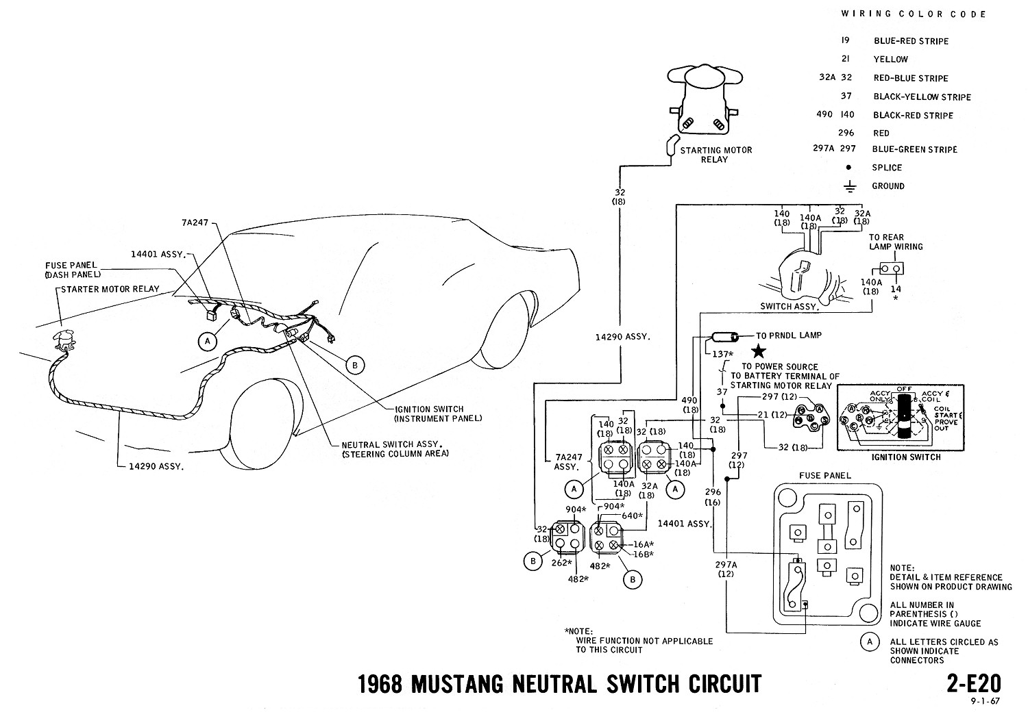 1969 mustang neutral safety switch on 64 ford ignition switch wiring 1968 ford ignition switch diagram [ 1500 x 1040 Pixel ]