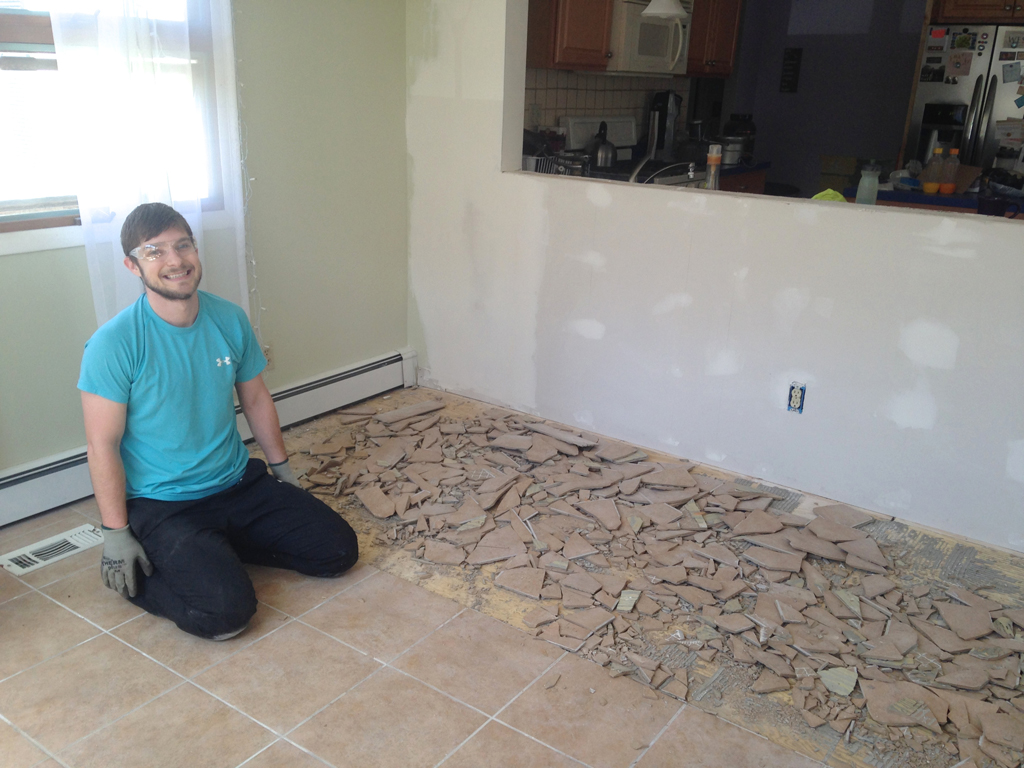 remove thinset from wood subfloors