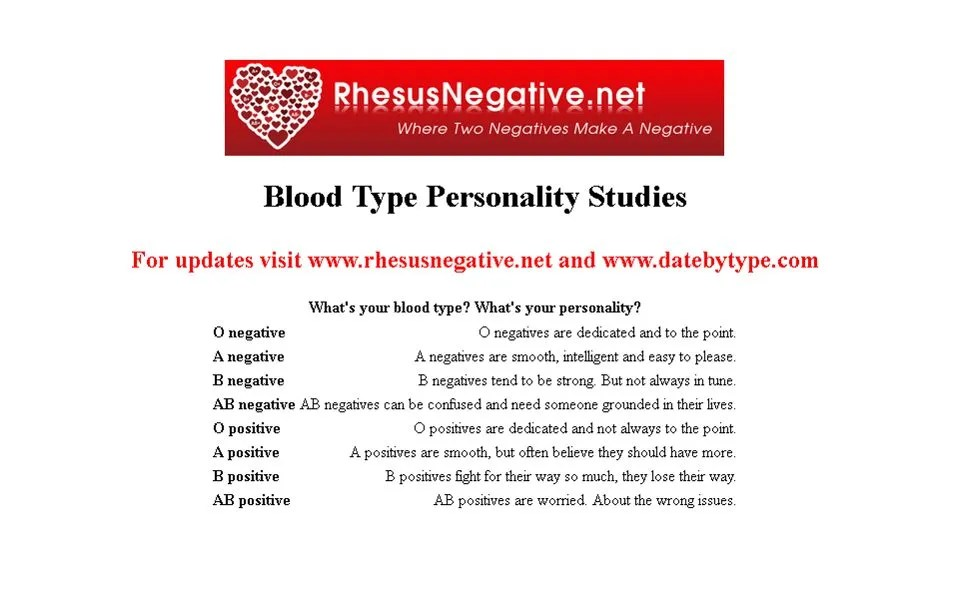 Can rh negative people recognize each others? – Rhesus ...