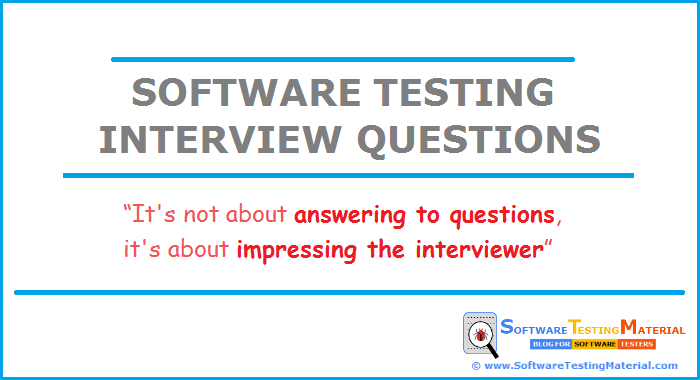 Top 100 Software Testing Interview Questions & Answers | Software ...