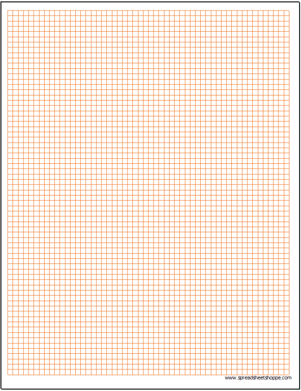 graph paper in excel