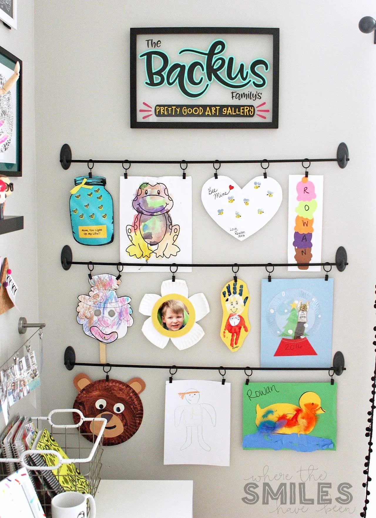 Easy Diy Kids Art Display Simple Inexpensive & Damage
