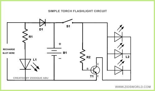 small resolution of home made bright white led torch flashlight circuit diagram diy mobile phone battery for led lighting electronic circuits diagram