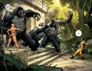 Wolverine vs the Great Apes