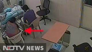 Caught on CCTV, woman doctor removed IV line for father