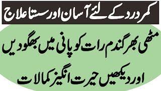 kamar dard ka ilaj gharelu nuskhe - back pain treatment at home ( Urdu Mag )
