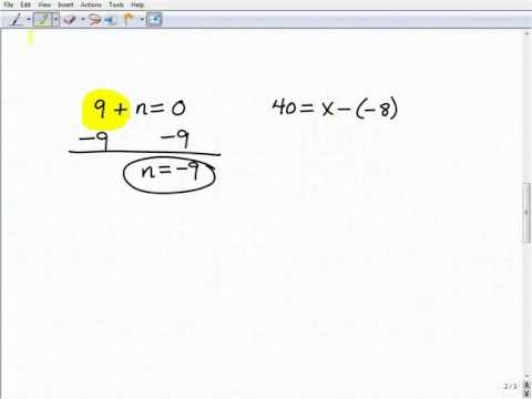 GED Exam Math Help- Understanding Basic Variable Equations