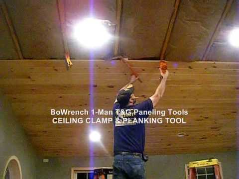1man TG ceiling install  Bowrench CeilingClamp