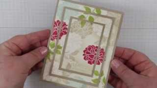 Triple Time stamping Technique Card with Fabulous Florets