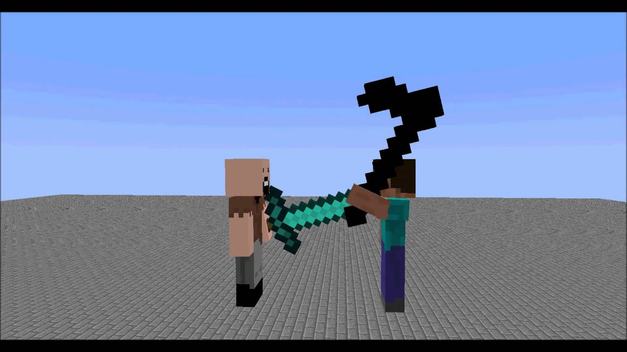 Notch And Herobrine Minecraft