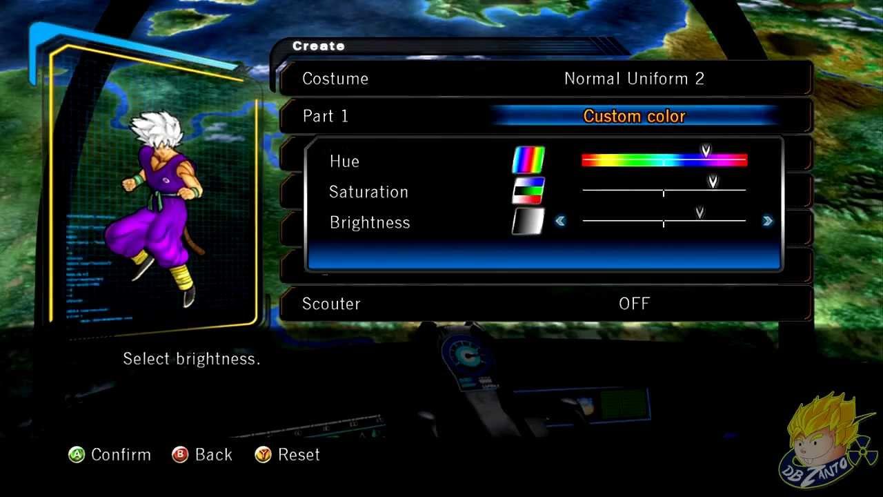 Dragon Ball Z Ultimate Tenkaichi Hero Mode Character
