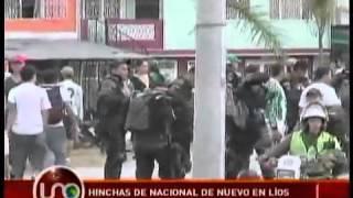 Disturbios entre hinchas y la Policía en el partido Tolima vs Nacional