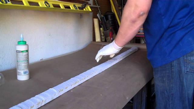 Gluing up a Bamboo Backed Longbow: Wood Glue - YouTube