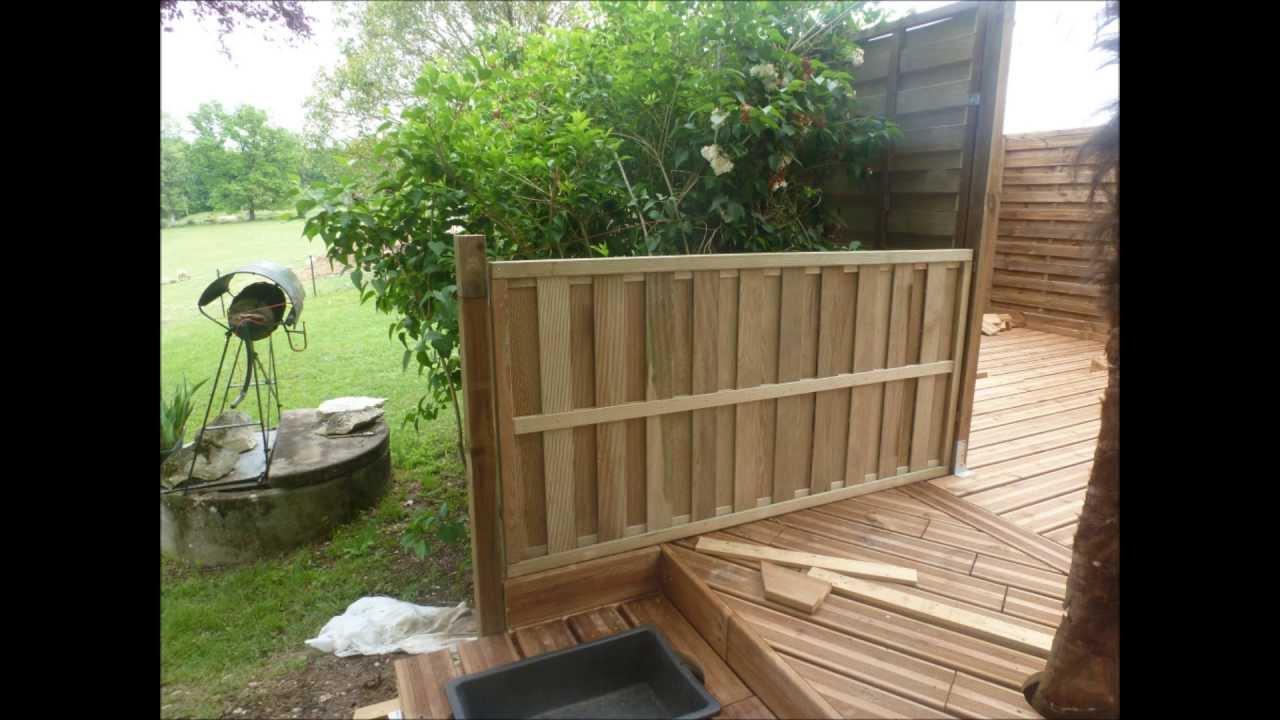 Terrasse en bois sur terrain non stabilis  YouTube