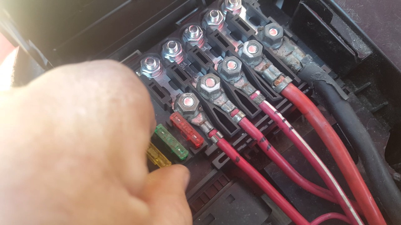 hight resolution of above the battery fuse box
