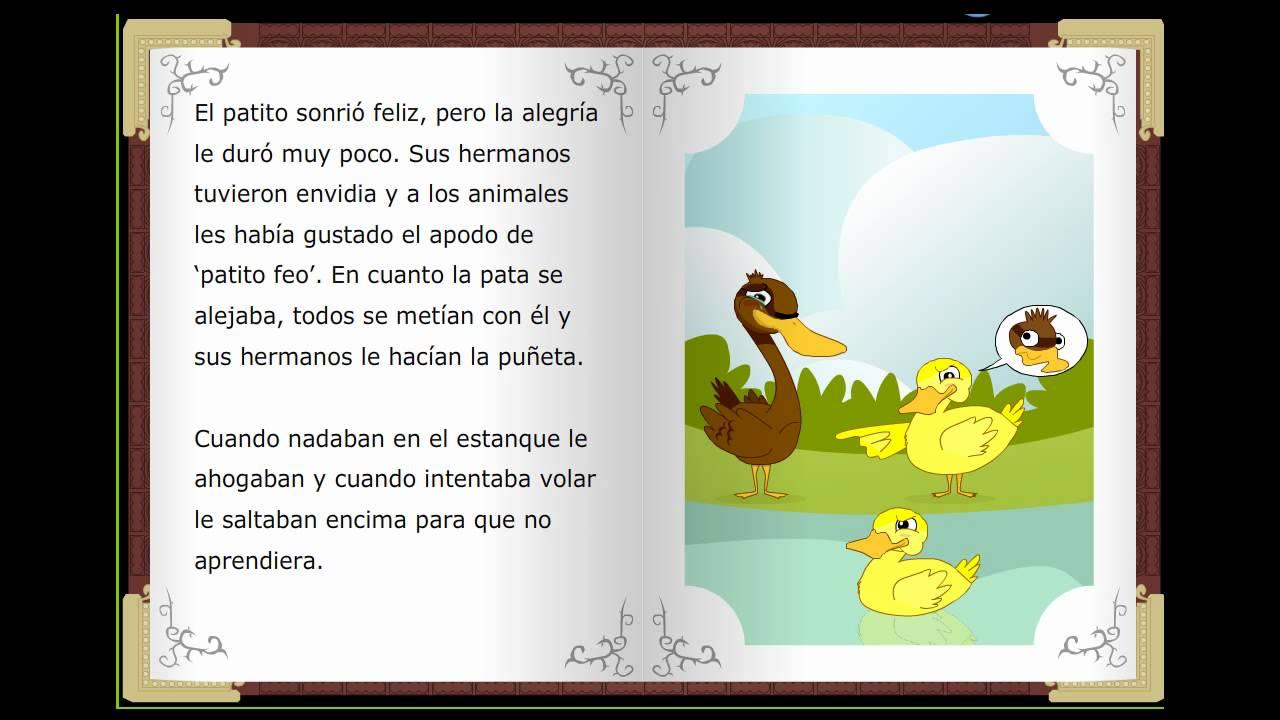 Crea el hábito de leer en los niños con los mejores cuentos infantiles. EL patito feo, Cuentos clásicos infantiles en español
