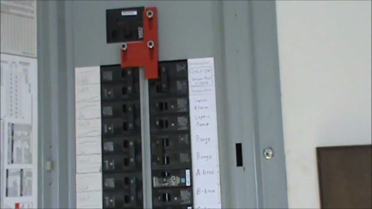 100 Amp Breaker Box Wiring Diagram Label How To Wire A Generator To An Electrical Panel Youtube