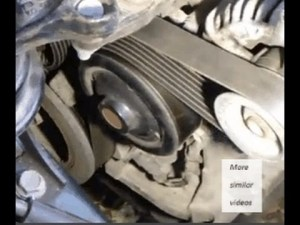 How to replace drive belt or serpentine belt Toyota Corolla VVTi engine Years 20002009