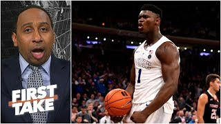 Zion & Porzingis on the Knicks would be 'box office' - Stephen A. | First Take