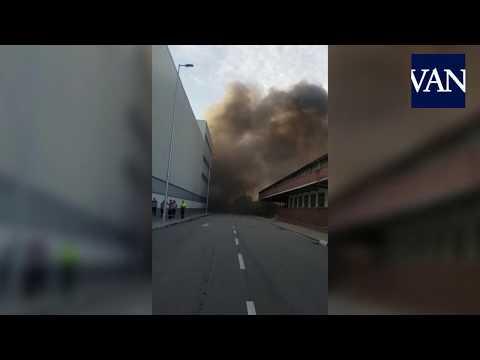 Incendio en el Museo de la Seat en la Zona Franca 11/01/19