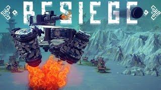 Besiege - Flying Hover Tank, Floating Kingdom, Self Building Tower & More - Besiege Best Creations