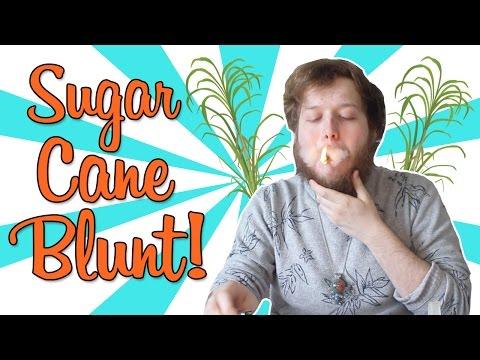 SMOKING A SUGAR CANE BLUNT!!