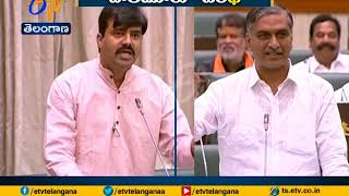 Harish Rao Takes on Challa Vamshi Chand | Over Palamuru-Dindi Project