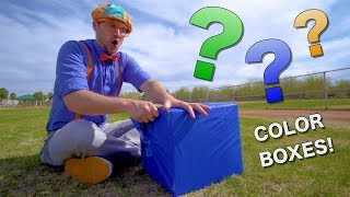 Learn Colors with Blippi | Educational for Toddlers | Color Boxes!