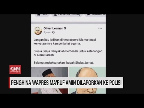 Penghina Wapres Ma'ruf Amin Dilaporkan ke Polisi