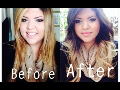 Dying My Hair Blonde to Brown Ombre  Before  After Pics  YouTube