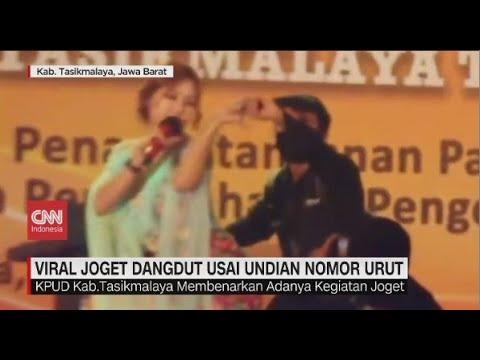 Viral Joget Dangdut Usai Undian Nomor Urut Calon Bupati