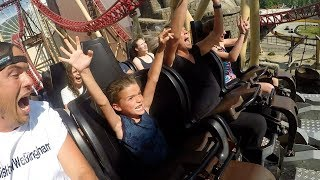 😱 SIX-YEAR-OLD KID CONQUERS TERRIFYING ROLLER COASTER 🎢