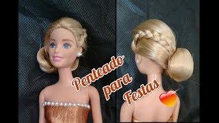 ❤Penteado de Festa para Barbie