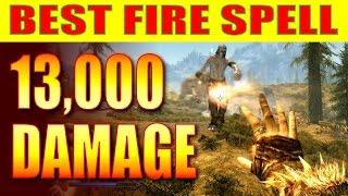 Skyrim Remastered - Best Fire Spell, 13,000 DAMAGE! (Ahzidal's Ring of Arcana, Ignite Spell)