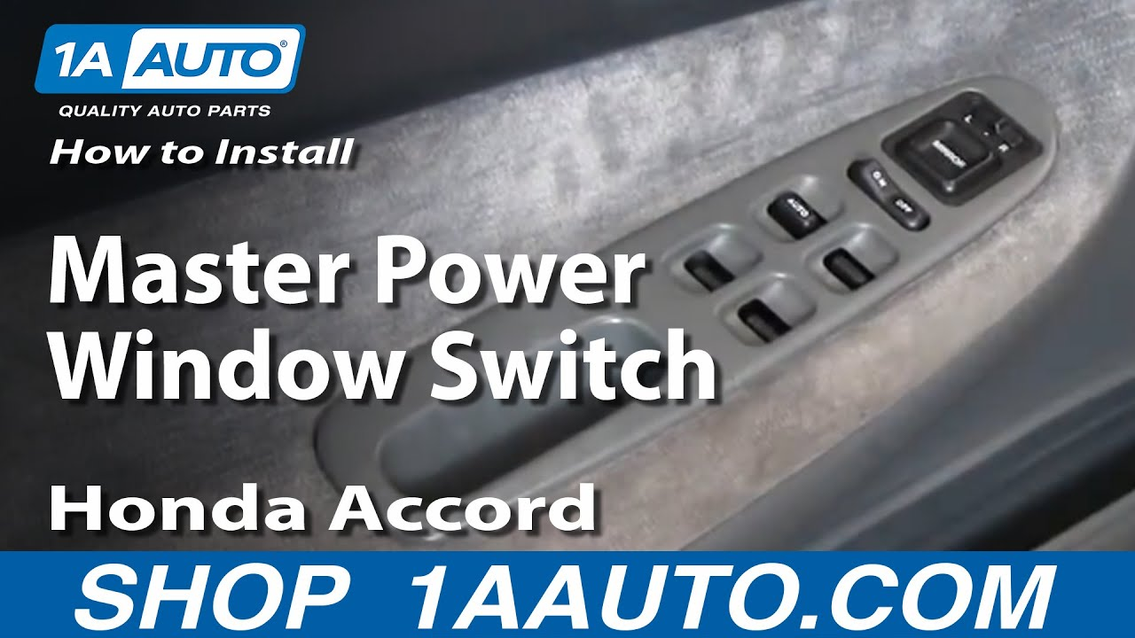 Fuse Box How To Install Replace Master Power Window Switch Honda