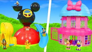 Minnie Mouse & Mickey Unboxing: Clubhouse, Bow Tique, Fireman, Doll House & Toy Vehicles for Kids