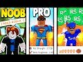 NOOB vs PRO vs ROBUX SPENDER *EPIC* | Super Power Training Simulator