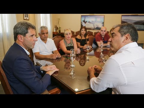 Uñac recibió a la cúpula de la CTA delegación San Juan