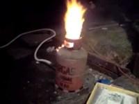 home made blast furnace - YouTube