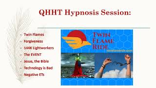 QHHT Hypnosis Session: Twin Flames, Jesus & his Sister/Equal, Event, 144,000, Technology