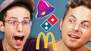 Try Guys Drunk Vegan Fast Food Taste Test