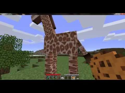 MinecraftHow To Tame A Giraffe YouTube